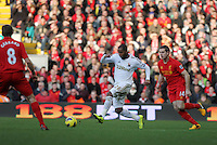 Barclays Premier League, Liverpool V Swansea, Anfield, 17/02/13 ..Pictured: Kemy Agustein of Swansea City..Picture by: Ben Wyeth / Athena
