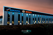 Picture by Shaun Fellows / Shine Pix Worcester Bosch new sign photography 10/12/18