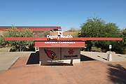 A general view of the Dignity Health Arizona Cardinals Traning Center amid the global coronavirus COVID-19 pandemic, Sunday, June 7, 2020, in Tempe, Ariz.