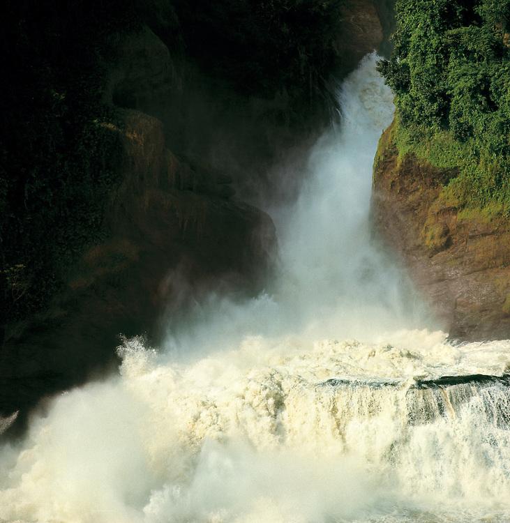 Mist rises from the ethereal Cataract, Murchison Falls, Murchison NP, Uganda.