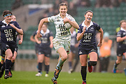 Twickenham, Surrey. UK. Lara GIBSON, breaks through to score, Cambridges university's second try  during the 2017 Women's Varsity Rugby Match, Oxford vs Cambridge Universities. RFU Stadium, Twickenham. Surrey, England.<br /> <br /> Thursday  07.12.17  <br /> <br /> [Mandatory Credit Peter SPURRIER/Intersport Images]