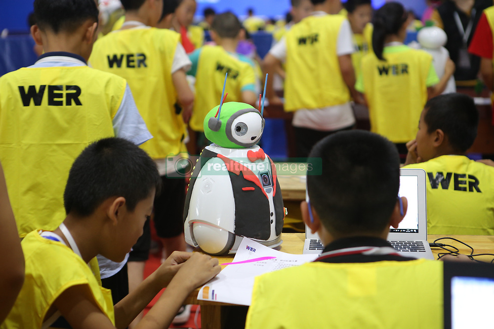 August 7, 2017 - Binzhou, Binzhou, China - Binzhou, CHINA-August 7 2017: (EDITORIAL USE ONLY. CHINA OUT) More than 900 teenagers attend the World Educational Robot (WER) Contest 2017 in Binzhou, east China's Shandong Province, August 5th, 2017. (Credit Image: © SIPA Asia via ZUMA Wire)
