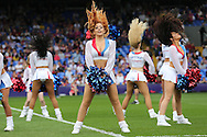 the Crystal Cheerleaders performing before k/o. Barclays Premier League match, Crystal Palace v Stoke City at Selhurst Park in London on Saturday 7th May 2016. pic by John Patrick Fletcher, Andrew Orchard sports photography.