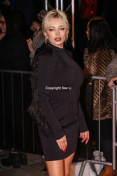 London,England,UK. 21th Fen 2017.  Caroline Vreeland attends London Fabulous Fund Fair hosted by Natalia Vodianova and Karlie Kloss in support of The Naked Heart Foundation on February 21, 2017 at The Roundhouse in London, England.,UK. by See Li