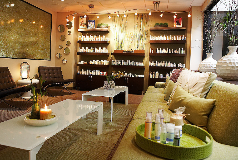 Photographsfor Facial Day Spa in San diego, CA, Services for clients, eyebrow waxing, facials, client interaction, achitectural photography, Interiors Exteriors
