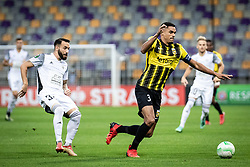 Mitja Lotric of NS Mura and Danilho Doekhi of Vitesse  during football match between NS Mura and Vitesse (NED) in 1st round of UEFA Europa Conference League 2021/22, on 16 of September, 2021 in Ljudski Vrt, Maribor, Slovenia. Photo by Blaž Weindorfer / Sportida