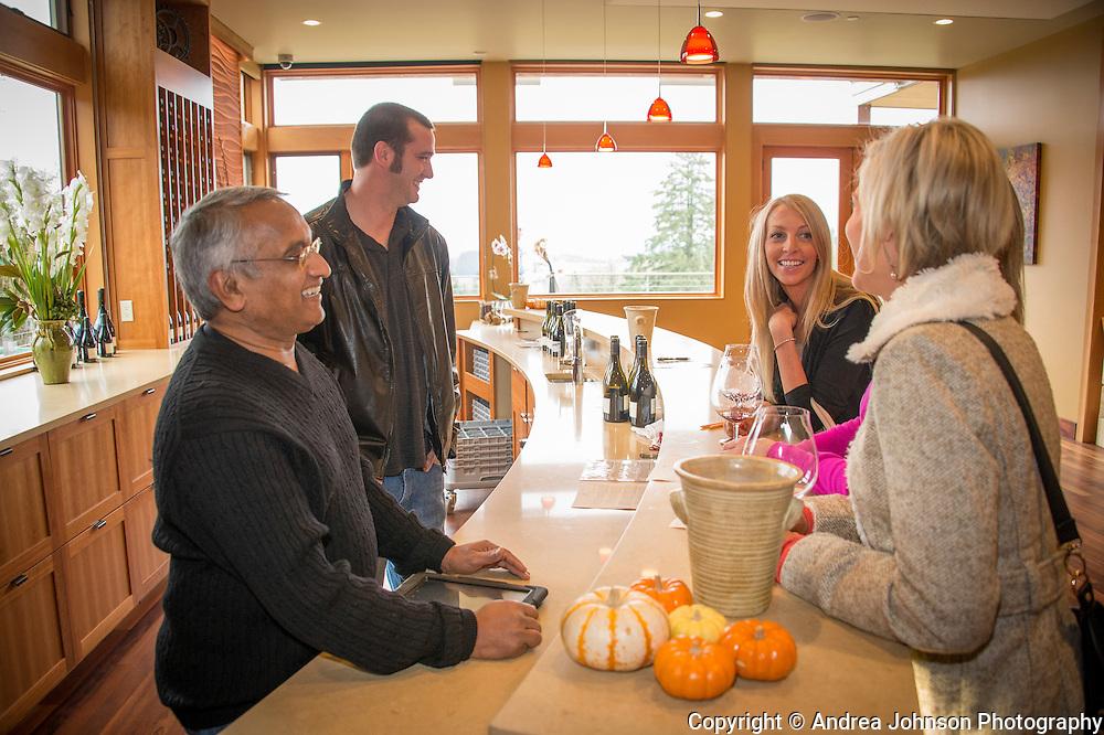 Dr. Revana, John Gabelhausen,, & Byan Weilm, Alexana Winery, Dundee Hills AVA, Willamette Valley, Oregon