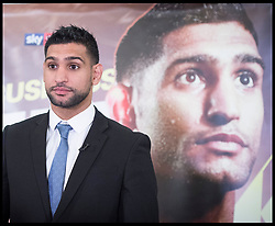 January 10, 2018 - London, London, United Kingdom - Image ©Licensed to i-Images Picture Agency. 10/01/2018. London, United Kingdom. Amir Khan Boxing Press Conference. Amir Khan .Boxing Press Conference at The Dorchester Hotel, London, Great Britain .Former unified world champion Amir Khan has a press conference where he makes a major announcement and lay out his plans to return to the ring in 2018. (Credit Image: © Elliott Franks/i-Images via ZUMA Press)