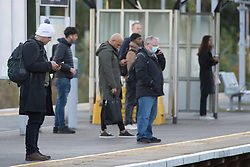 ©Licensed to London News Pictures 15/10/2020  <br /> Petts Wood, UK. A cold morning today for London commuters at Petts Wood train station, Petts Wood, South East London. Photo credit:Grant Falvey/LNP