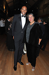Actor COLIN SALMON and the Jamaican High Commissioner HE ALOUN NDOMBET ASSAMBA at the annual Chain of Hope's annual Gala Ball held at the Natural History Museum, London on 8th November 2012.