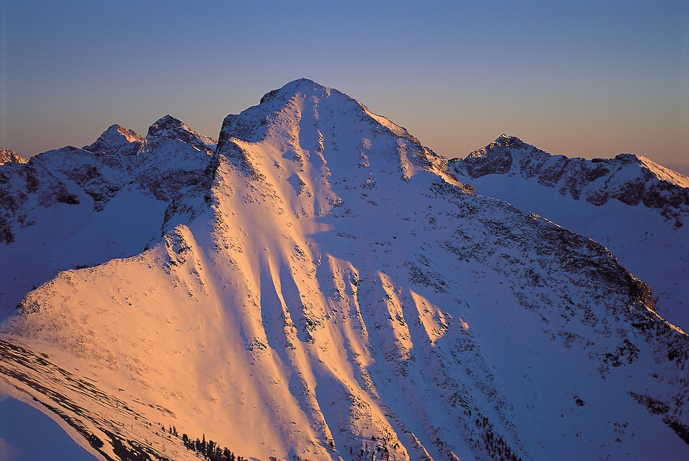 Devil's Bedstead Peak in the Pioneer Mountains at 11865 feet of elevation is one of the most dramatic views in Central Idaho near Sun Valley. Licensing and Open Edition Prints.