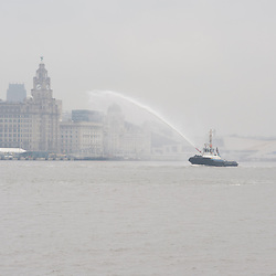 LIVERPOOL, UK, 28th May, 2013. A fleet of Royal Navy ships leave Liverpool after spending the Bank Holiday weekend there as part of the 70th Anniversary of the Battle of the Atlantic.