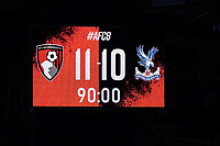 Football - 2019 / 2020 EFL Cup - Round 2 -AFC Bournemouth vs. Crystal Palace <br /> <br /> The final score in the penalty shoot out during the EFL Cup tie at the Vitality Stadium (Dean Court) Bournemouth  <br /> <br /> COLORSPORT/SHAUN BOGGUST