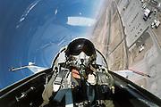 F-5E, Navy, breaks over Fallon NV..Self-portrait released.