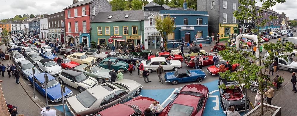 REPRO FREE<br /> One the most exciting and spectacular weekends on the Kinsale events is The Blue Haven Kinsale Vintage Rally. Over 100 amazing Vintage cars are on display in this stitched panorama of Kinsale over the weekend.<br /> Picture. John Allen<br /> <br /> Kinsale Vintage Rally Weekend 2017(May 5th- 8th) <br /> <br /> One the most exciting and spectacular weekends on the Kinsale events is The Blue Haven Kinsale Vintage Rally, taking place this weekend May 5th to 8th. With over 100 amazing Vintage cars on display in Kinsale over the weekend, it really is a fun filled family weekend worth seeing. Blue Haven Kinsale are proud sponsors and partners for over 10 years of the Kinsale Vintage Rally. The Vintage Cars were on display today Saturday 6th May outside The Blue Haven Hotel from 9.30am, with special guest from Lockdown model agency and many people who were out to see this great event which takes place once a year. It's a fantastic day for the whole family and is enjoyed by all. <br /> <br /> Now entering its 28th year, it is widely regarded as one of the premier events on the Irish classic car calendar.<br /> <br /> Following the twinning of Kinsale with the Welsh town of Mumbles in 1990, KVCMC also decided to twin with the town's own car club, The Swansea Historic Vehicle Register. Each year see's large numbers of SHVR members make the trip to Kinsale for the May rally, a gesture that is returned each July when the club makes the return trip to Swansea.<br /> <br /> Kinsale Vintage & Classic Motor Club originally established in 1988 by a group of classic car enthusiasts, the club has since grown to a current membership of over 100 members. All members share a common passion –their love of driving and preserving the classic cars. Indeed, one could ask for no better setting than the historic town of Kinsale and the surrounding beauty of the West Cork countryside.<br /> <br /> For more details please contact  cassandra@bluehavenkinsale.com or call 021-477220