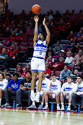 NORMAL, IL - February 22: Roman Penn during a college basketball game between the ISU Redbirds and the Drake Bulldogs on February 22 2020 at Redbird Arena in Normal, IL. (Photo by Alan Look)