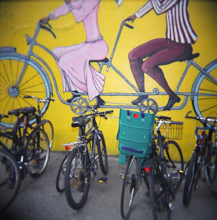 Bicycle seat, Park Slope, Brooklyn, 2008