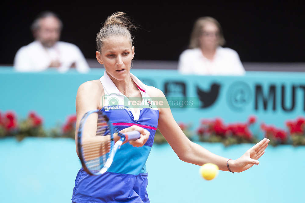 May 9, 2018 - Madrid, Spain - Czech Karolína Pliskova during Mutua Madrid Open 2018 at Caja Magica in Madrid, Spain. May 09, 2018. (Credit Image: © Coolmedia/NurPhoto via ZUMA Press)