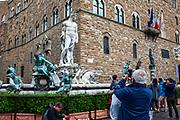 Fontana del Nettuna, Fountain of Neptune, Piazza della Signoria, Florence, Italy