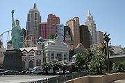 USA, Nevada, Las Vegas, Replica Statue of Liberty at New York New York Hotel