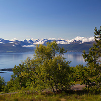 Europe, Norway, Molde. The Molde Panorama view from Varden overlook.
