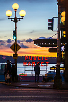 First Avenue & Pine Street, Downtown Seattle