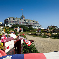 The Island Inn sits atop a bluff on Monheghan Island.  The building dates back to 1816 and is seasonal.