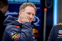 February 19, 2019 - Montmelo, Barcelona, Catalonia, Spain - Barcelona-Catalunya Circuit, Montmelo, Catalonia, Spain - 19/02/2018: Christian HORNER, Team Red Bull Racing Principal in team box during second journey of F1 Test Days in Montmelo circuit. (Credit Image: © Javier Martinez De La Puente/SOPA Images via ZUMA Wire)
