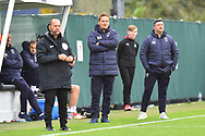 AFC Wimbledon manager Neal Ardley in the technical area during the EFL Sky Bet League 1 match between Plymouth Argyle and AFC Wimbledon at Home Park, Plymouth, England on 6 October 2018.