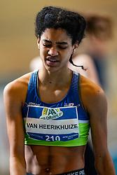 Celine van Heerikhuize in action on the 800 meter during AA Drink Dutch Athletics Championship Indoor on 20 February 2021 in Apeldoorn.