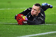 Bologna goalkeeper Lukasz Skorupski saves the ball during the Italian championship Serie A football match between AS Roma and Bologna FC 1909, Friday, Feb. 7, 2020, at Stadio Olimpico in Rome, Italy. (Federico Proietti/Image of Sport)