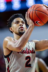 NORMAL, IL - February 08: Zach Copeland during a college basketball game between the ISU Redbirds and the Indiana State Sycamores on February 08 2020 at Redbird Arena in Normal, IL. (Photo by Alan Look)