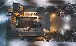 THEMENBILD - das Rathaus von oben im Winter mit Schnee bedeckt, aufgenommen am 07. Februar 2019 in Lahti, Finnland // the town hall from above in winter covered with snow. Lahti, Finland on 2019/02/07. EXPA Pictures © 2019, PhotoCredit: EXPA/ JFK