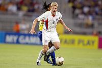 FOTBALL - CONFEDERATIONS CUP 2003 - GROUP B - BRASIL v USA - 030621 - GREGG BERHALTER (USA) - PHOTO JEAN MARIE HERVIO /  DIGITALSPORT