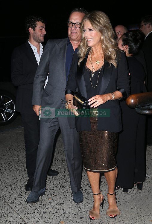 Celebrities at the Tom Ford show in New York. 05 Sep 2018 Pictured: Tom Hanks, Rita Wilson. Photo credit: MEGA TheMegaAgency.com +1 888 505 6342