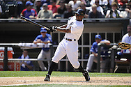 CHICAGO - JULY 06:  Juan PIerre #1 of Chicago White Sox bats against  the Kansas City Royals on July 6, 2011 at U.S. Cellular Field in Chicago, Illinois.  The Royals defeated the White Sox 4-1.  (Photo by Ron Vesely)  Subject: Juan Pierre