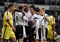 Photo: Paul Thomas.<br /> Derby County v Southampton. Coca Cola Championship. Play Off Semi Final, 2nd Leg. 15/05/2007.<br /> <br /> Darren Moore (23) and Derby celebrate his goal.
