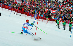 17.02.2013, Planai, Schladming, AUT, FIS Weltmeisterschaften Ski Alpin, Slalom, Herren, 1. Durchgang, im Bild Marcel Hirscher (AUT) // Marcel Hirscher of Austria in action during 1st run of the mensSlalom at the FIS Ski World Championships 2013 at the Planai Course, Schladming, Austria on 2013/02/17. EXPA Pictures © 2012, PhotoCredit: EXPA/ sportbild. se/ Nisse Schmidt ***** ATTENTION - OUT OF SWE *****