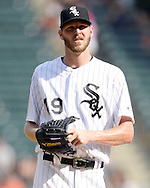 CHICAGO - SEPTEMBER 05:  Chris Sale #49 of the Chicago White Sox looks on against the Detroit Tigers on September 5, 2016 at U.S. Cellular Field in Chicago, Illinois.  The Tigers defeated the White Sox 5-3. (Photo by Ron Vesely)   Subject:   Chris Sale