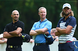 May 25, 2017 - Virginia Water, United Kingdom - Gregory Havret of FIN Mikko Ilonen of FRA and Johan Carlsson of SWE.during 1st Round for the 2017 BMW PGA Championship on the west Course at Wentworth on May 25, 2017 in Virginia Water,England  (Credit Image: © Kieran Galvin/NurPhoto via ZUMA Press)