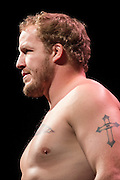 DALLAS, TX - MARCH 13:  Jared Rosholt stands on the scale during the UFC 185 weigh-ins at the Kay Bailey Hutchison Convention Center on March 13, 2015 in Dallas, Texas. (Photo by Cooper Neill/Zuffa LLC/Zuffa LLC via Getty Images) *** Local Caption *** Jared Rosholt