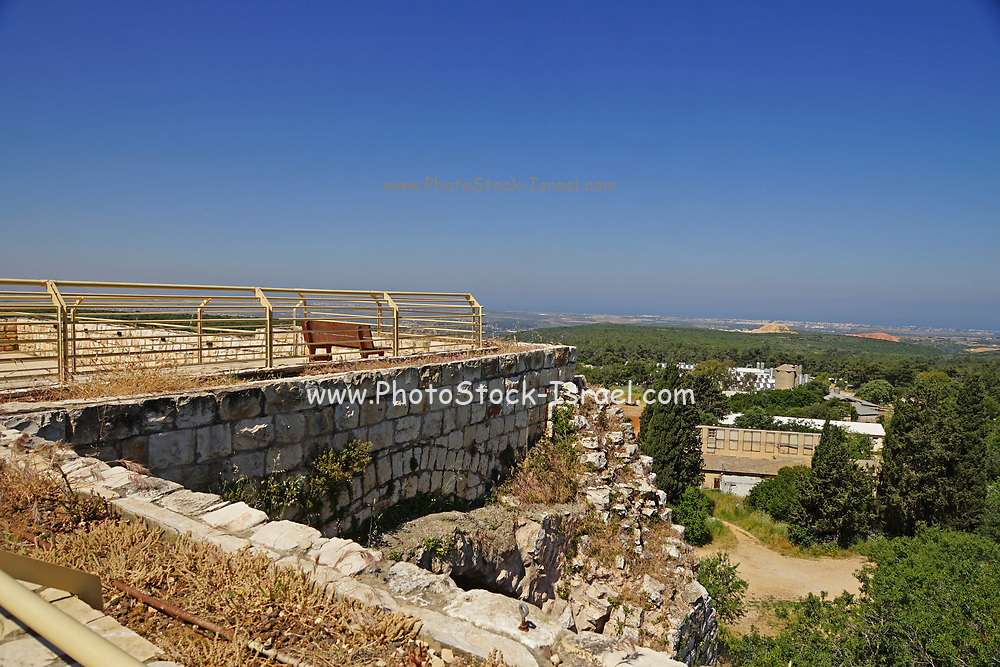 The remains of the 12th century Crusader fortress of Yehiam (Gidin or Jiddin). landscapes of the Western Galilee, Israel