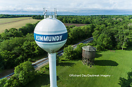 63807-01014 Wooden water tower for steam engines on railroad Kinmundy, IL