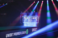 General view of the arena during the Premier League Darts at Marshall Arena, Milton Keynes, United Kingdom on 5 April 2021.