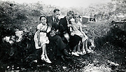 family portrait countryside France 1951