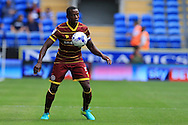 Nedum Onuoha of Queens Park Rangers in action. EFL Skybet championship match, Cardiff city v Queens Park Rangers at the Cardiff city stadium in Cardiff, South Wales on Sunday 14th August 2016.<br /> pic by Andrew Orchard, Andrew Orchard sports photography.