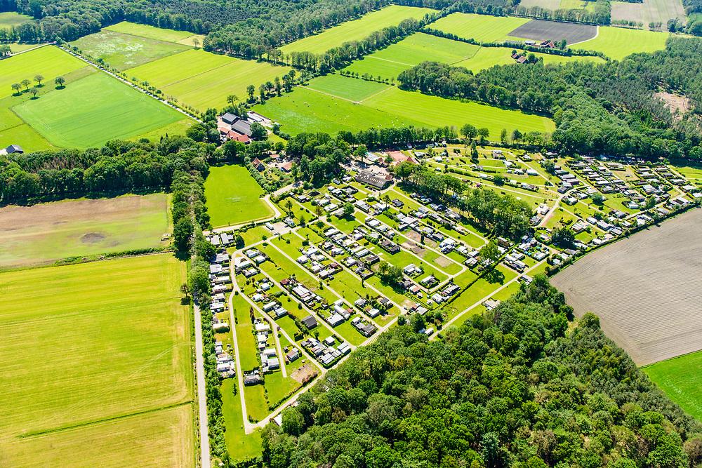 Nederland, Gelderland, Achterhoek, 29-05-2019; Achterhoek,  omgeving Winterswijk - Woold. Camping De Harmienehoeve.<br /> Achterhoek, Winterswijk - Woold area. Camping De Harmienehoeve.<br /> luchtfoto (toeslag op standard tarieven);<br /> aerial photo (additional fee required);<br /> copyright foto/photo Siebe Swart