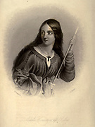 Adela of Normandy, of Blois, or of England (c. 1067 – 8 March 1137), also known as Saint Adela in Roman Catholicism, was a daughter of William the Conqueror and Matilda of Flanders who later became the Countess of Blois, Chartres, and Meaux by marriage to Stephen II, Count of Blois. From the book Heroines of the crusades by Bloss, Celestia Angenette, 1812-1855 Published by Auburn Alden, Beardsley, New York, 1853 Engraved by J.C. Buttre