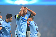 Vincent Kompany of Manchester City looks dejected - Manchester City vs. CSKA Moscow - UEFA Champions League - Etihad Stadium - Manchester - 05/11/2014 Pic Philip Oldham/Sportimage