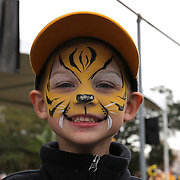 ORLANDO, FL - JANUARY 01:  A young Missouri Tigers fan is seen with face paint prior to the Buffalo Wild Wings Citrus Bowl between the Minnesota Golden Gophers and the Missouri Tigers at the Florida Citrus Bowl on January 1, 2015 in Orlando, Florida. (Photo by Alex Menendez/Getty Images) *** Local Caption ***